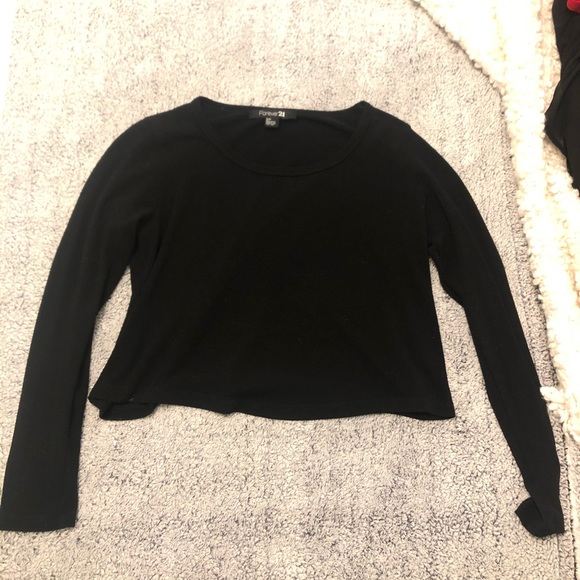 10 for $30 - Long Sleeve Forever 21 Crop Top
